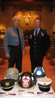 George Meyer, Chief, Hopewell Township Police and Gus Tackacs, Firefighter, Trenton Fire Department
